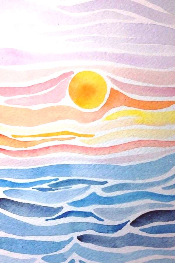 55 Very Easy Watercolor Painting Ideas For Beginners Page 3 Of 4 Feminatalk